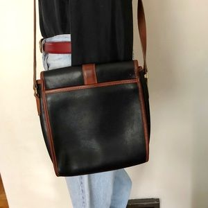 Coach Bags - Vintage 80s Coach Black and English Tan Purse